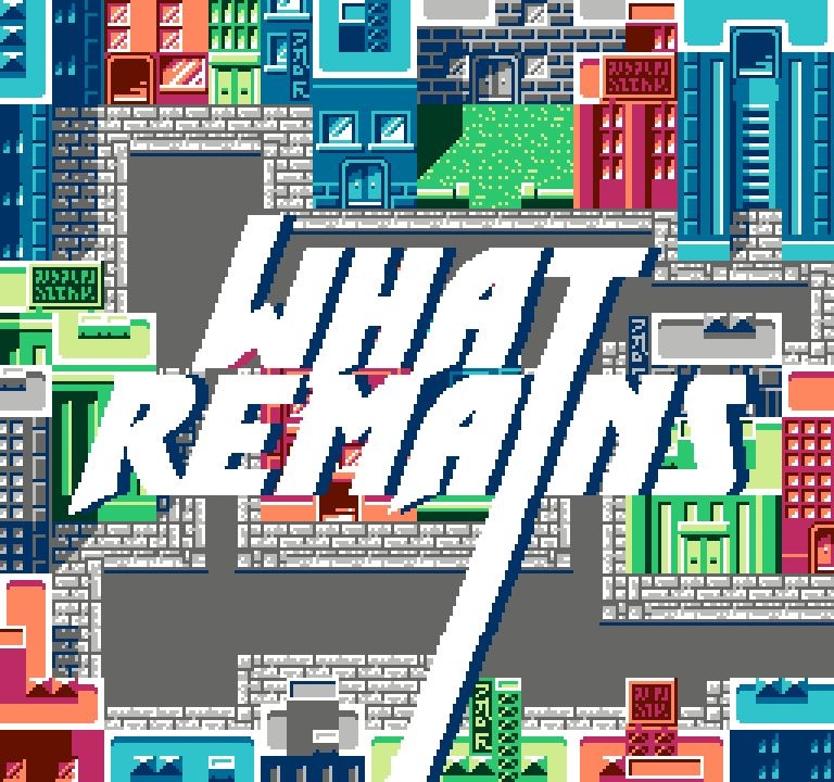 What remains city map with title. Image by Arnaud Guillon and Aymeric Mansoux